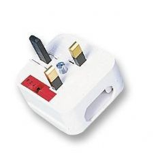 POWERCONNECTIONS ECP-WH-R-5A  Euro Converter Plug - White/5A